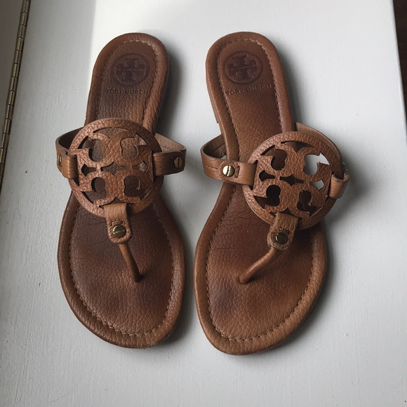 2e05a15f2 Tory Burch Shoes - Tory Burch brown tumbled leather Miller sandal